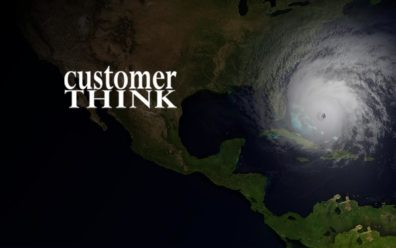 hurricane is about to hit mainland Florida with customer think logo